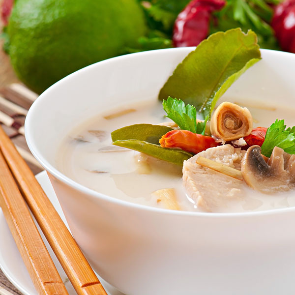 Thai Chicken Soup with Coconut & Galanga