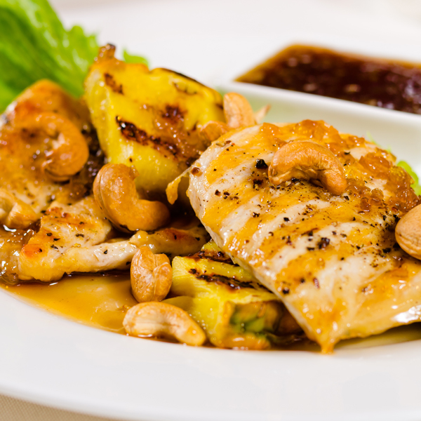 Chicken Breast with Carmelized Pineapple Sauce