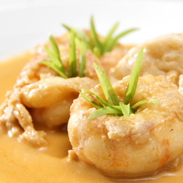 Shrimp in Carmelized Pineapple Butter Sauce