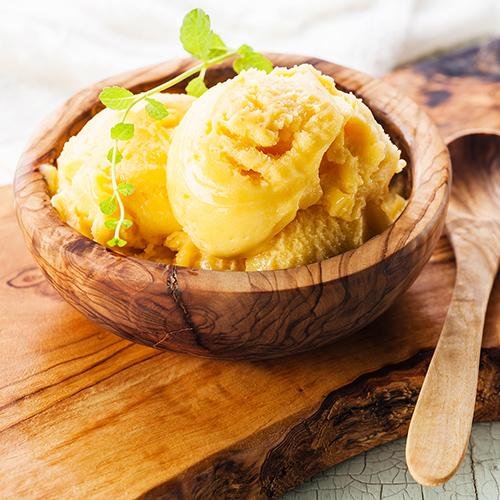 Passion Fruit Macadamia Ice Cream