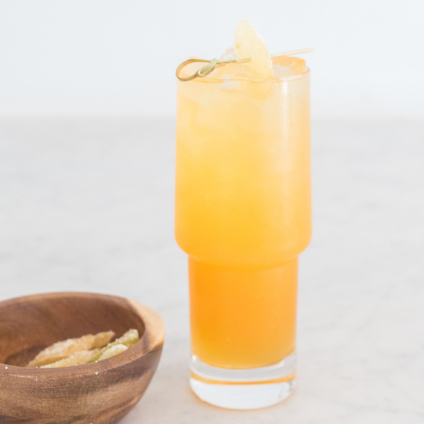 Thai Basil and Apricot Mule
