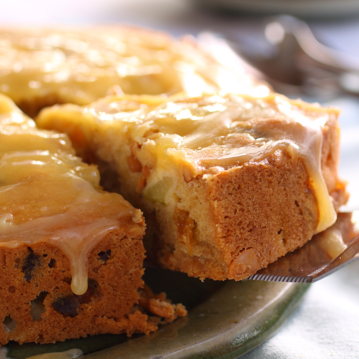 Pear Poundcake with Pear Liqueur Sauce