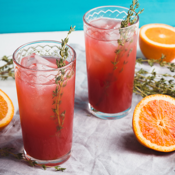 Blood Orange Ginger Ice Tea
