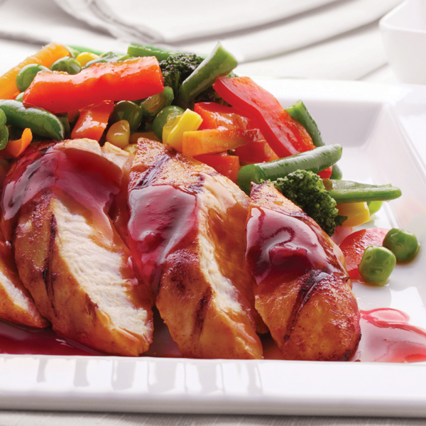 Bacon Chicken Breast with Cranberry Marmalade