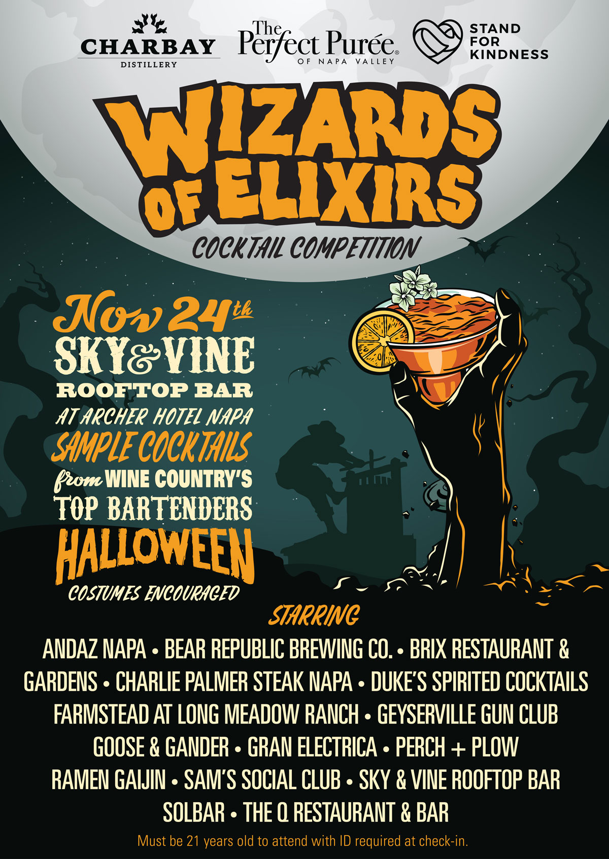 The Wizards of Elixirs Cocktail Competition