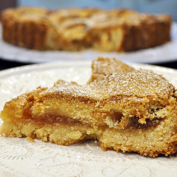 Peach Ginger Linzer Torte