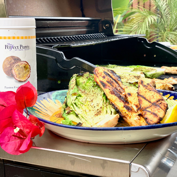 Passion Fruit Grilled Chicken & Grilled Romaine Lettuce