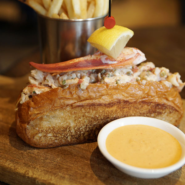 Connecticut-Style Lobster Roll with Red Jalapeño Aioli