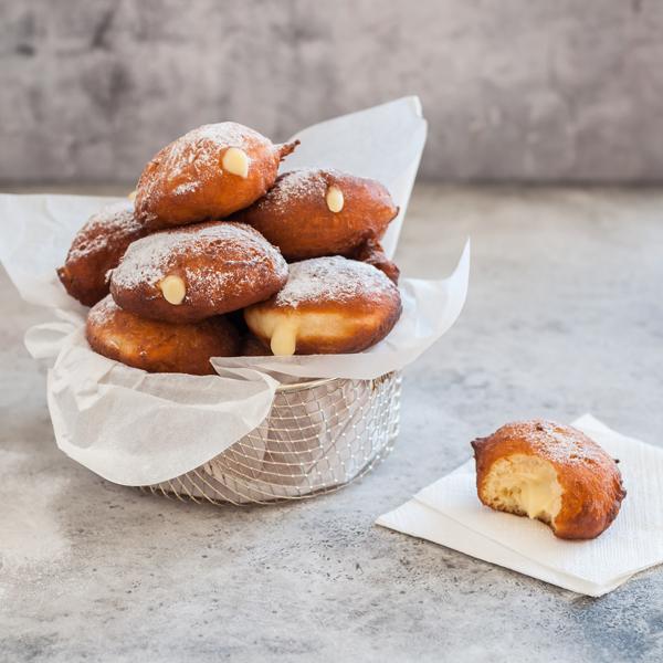 Malasadas with Pastry Cream